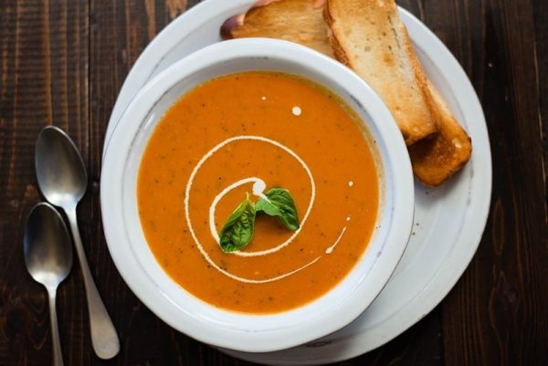 cream of tomato soup parc cafe